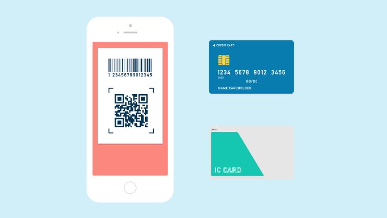 クレジットカード・電子マネー・QRコード